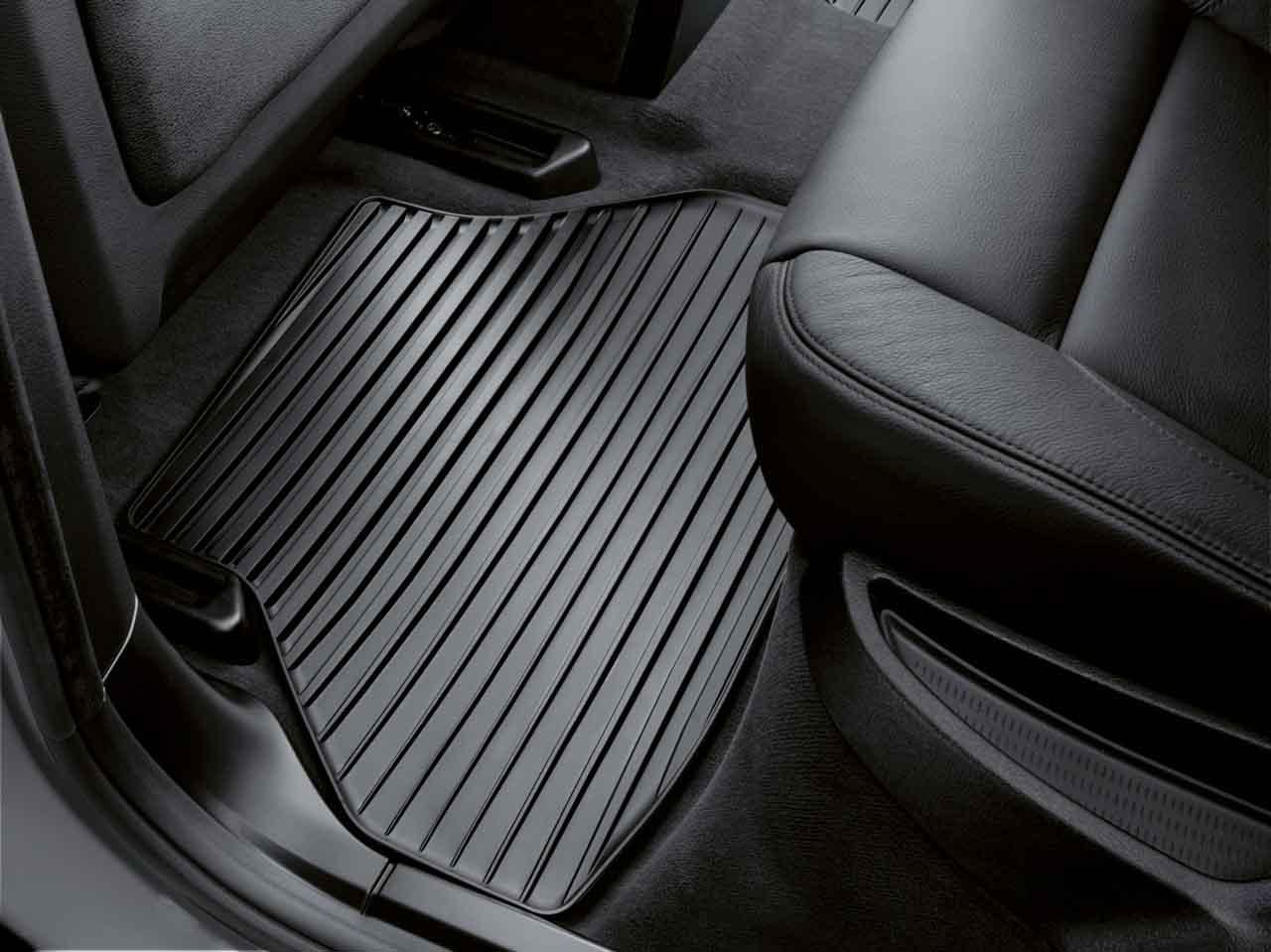 Weather Car Mats >> BMW Genuine All-Weather Rubber Rear Floor Mats Set Anthracite E70 X5 51472231955 | eBay
