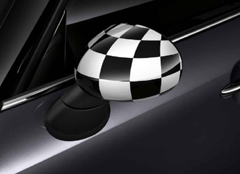 Mini Genuine Right Door Wing Mirror Cover Cap Checkered