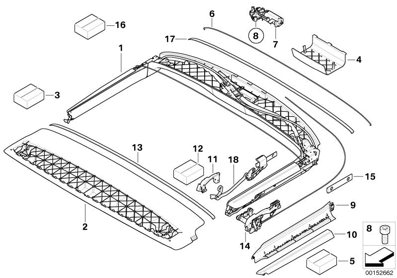 mini cooper roof diagram