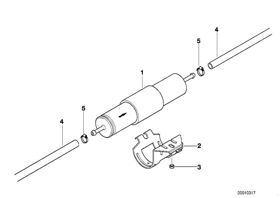 Bmw Genuine Fuel Filter E36 E46 3 Series Z3 13327512019