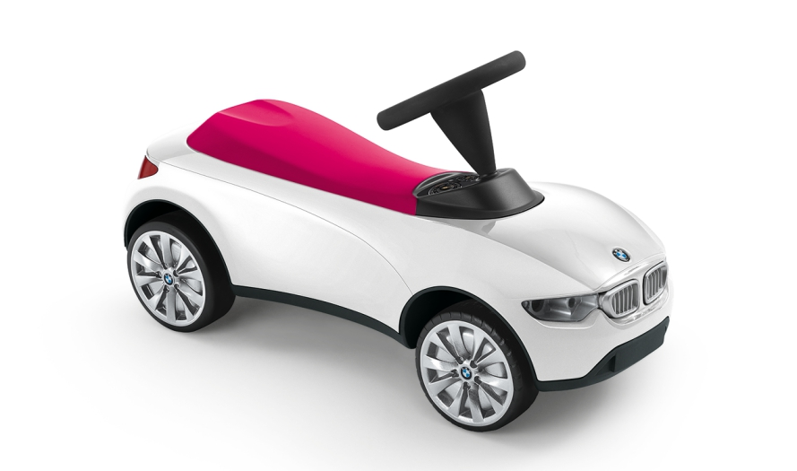 bmw genuine baby racer iii kids ride on push toy car white. Black Bedroom Furniture Sets. Home Design Ideas