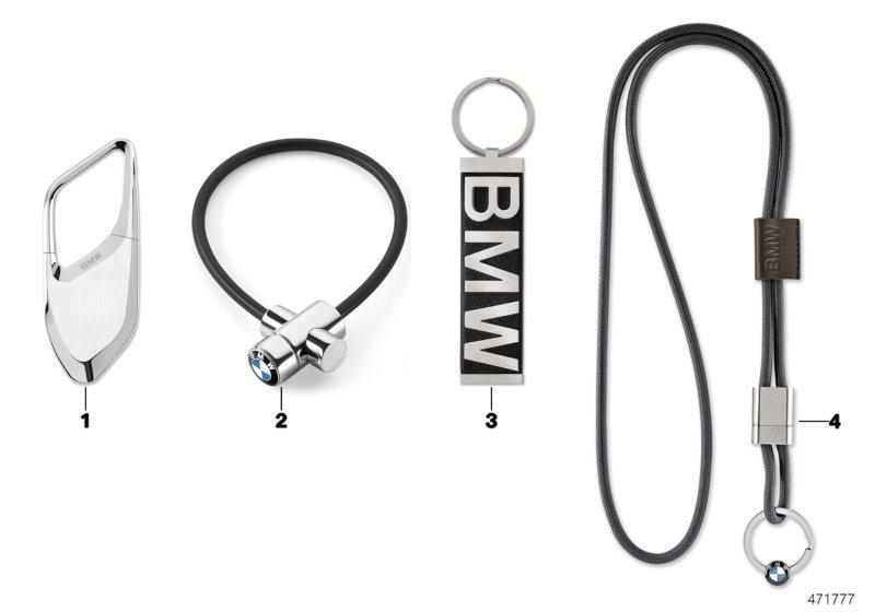 bmw genuine design key ring fob chain pull turn lock