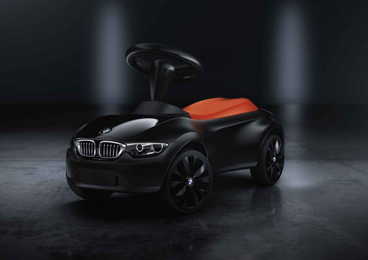 bmw genuine baby racer iii kids ride on push toy car black. Black Bedroom Furniture Sets. Home Design Ideas