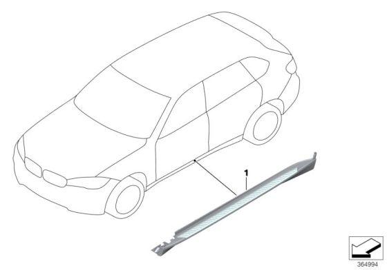 Bmw Genuine Aluminium Side Step Running Board Bar Retrofit Kit F15