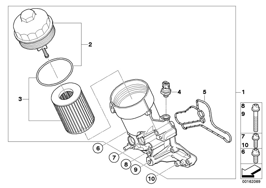 bmw genuine set oil filter element e90 e92 e93 3 series m3 rh ebay co uk bmw e92 engine bay diagram bmw e90 engine parts diagram