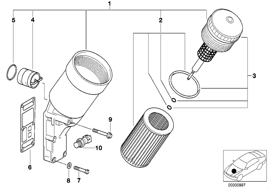 Bmw Genuine Set Oil Filter Element E36 E46 3 Series Z3