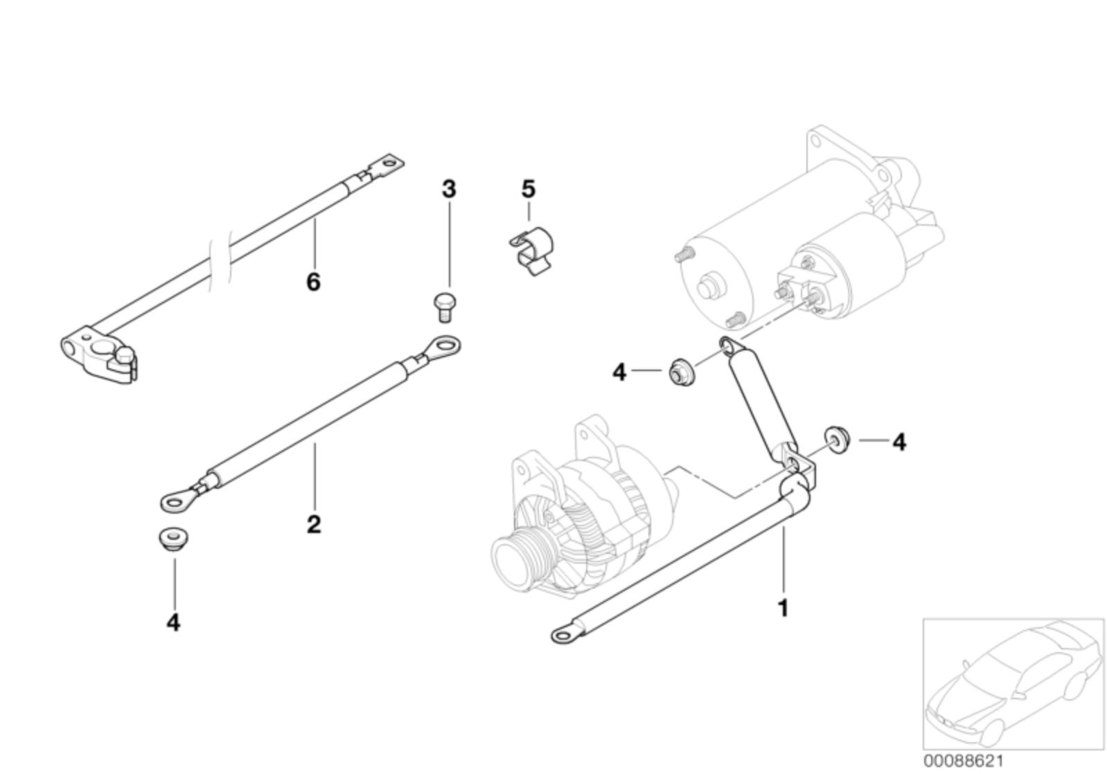 BMW Genuine 2x Hex Bolts Screws M8x16-8.8-ZNS3 Fits Most Models 07119902900