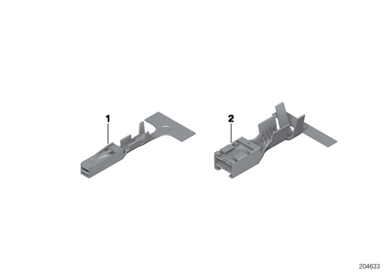 6 X BMW Genuine Terminal System Mcon Terminal Socket Mcon 1.2 0.5-0.75 MM//Ag E46