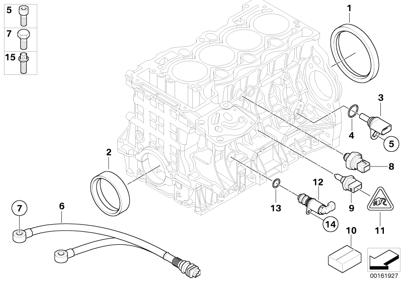 bmw genuine engine system oil pressure sensor switch