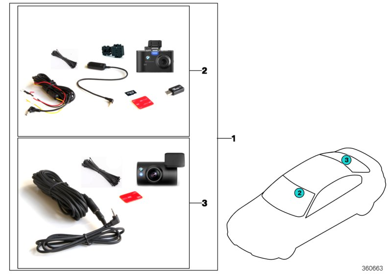 bmw genuine advanced car eye hd front rear dash cam road. Black Bedroom Furniture Sets. Home Design Ideas