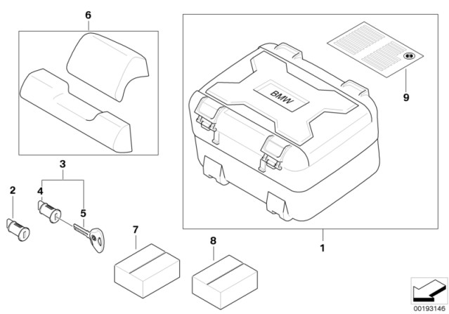 Genuine BMW Motorrad Rear Vario Top Case Box For R1200gs 04 08 10 77438527849: BMW Motorcycle 2006 R1200gs Wiring Diagram At Hrqsolutions.co