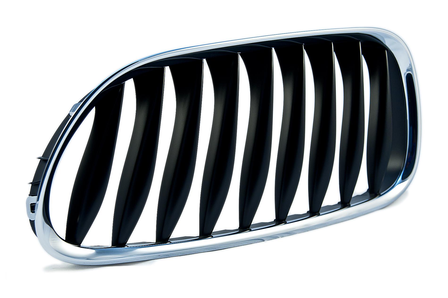 Bmw E85 E86 Z4 2002-2008 Front Kidney Grille Chrome Silver Slats Driver Side