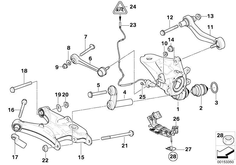 Bmw Genuine Suspension Control Arm Eccentric Washer Bolt For X5 E53