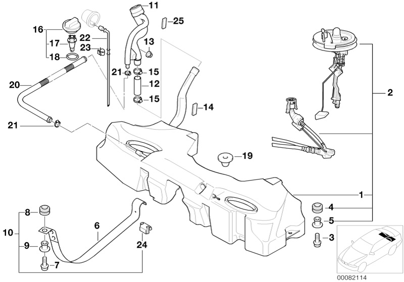 BMW Genuine/Fuel Tank Mounting Holding Strap For 5 Series E39 16111184911