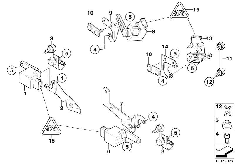Bmw Genuine Aim Control Air Spring Level Sensor For X5 E53