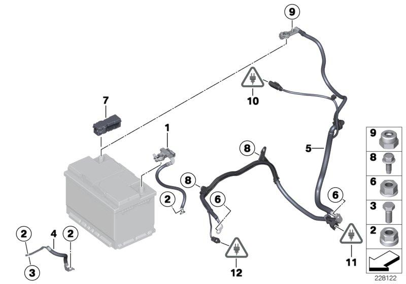 Mini Genuine Car Battery Cable Lead Negative Ibs R55 R56