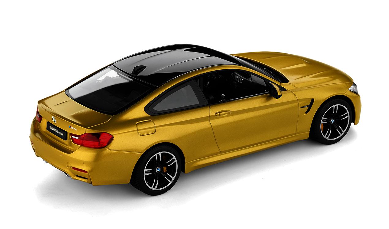 Bmw Genuine Miniature Die Cast Car Rc M4 Coup 233 1 14 Scale Yellow 80442447987 5056162835436 Ebay