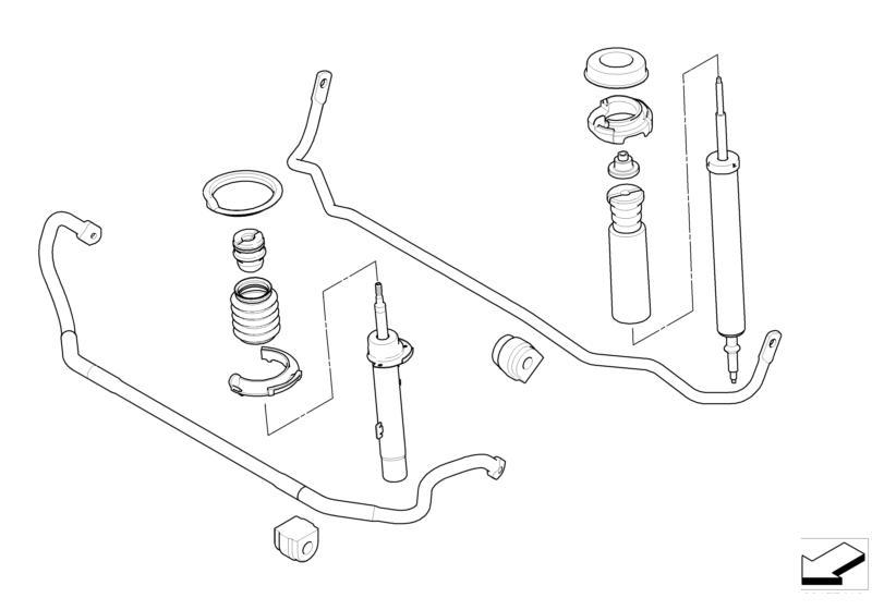 bmw performance sports suspension retrofit kit e90  e92 3