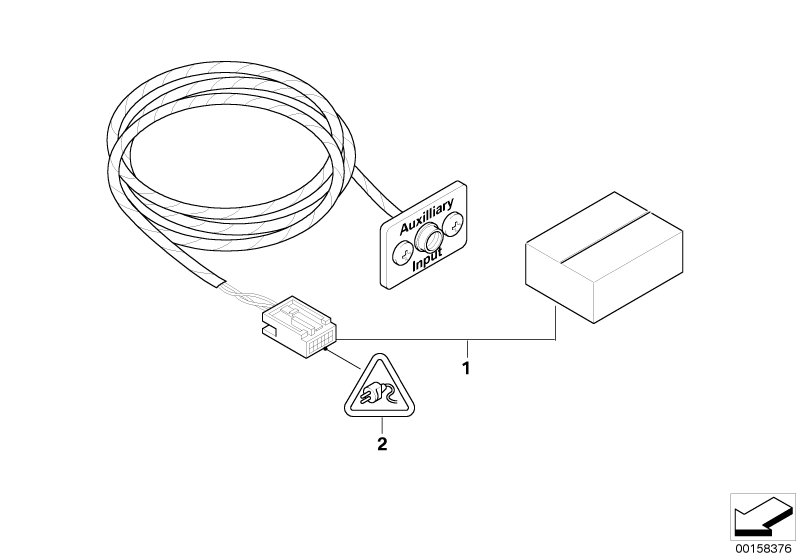 bmw genuine retrofit kit auxiliary connect aux adapter e46