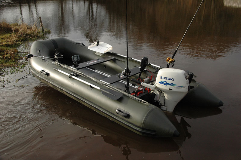 Bison marine olive green inflatable fishing sports air rib for Inflatable boats for fishing