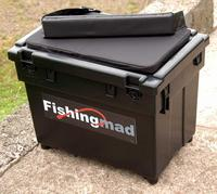 FISHINGMAD SEAT BOX + STRAP + CUSHION CHOICE OF 4 DESIGNS OF SEATBOX STICKERS