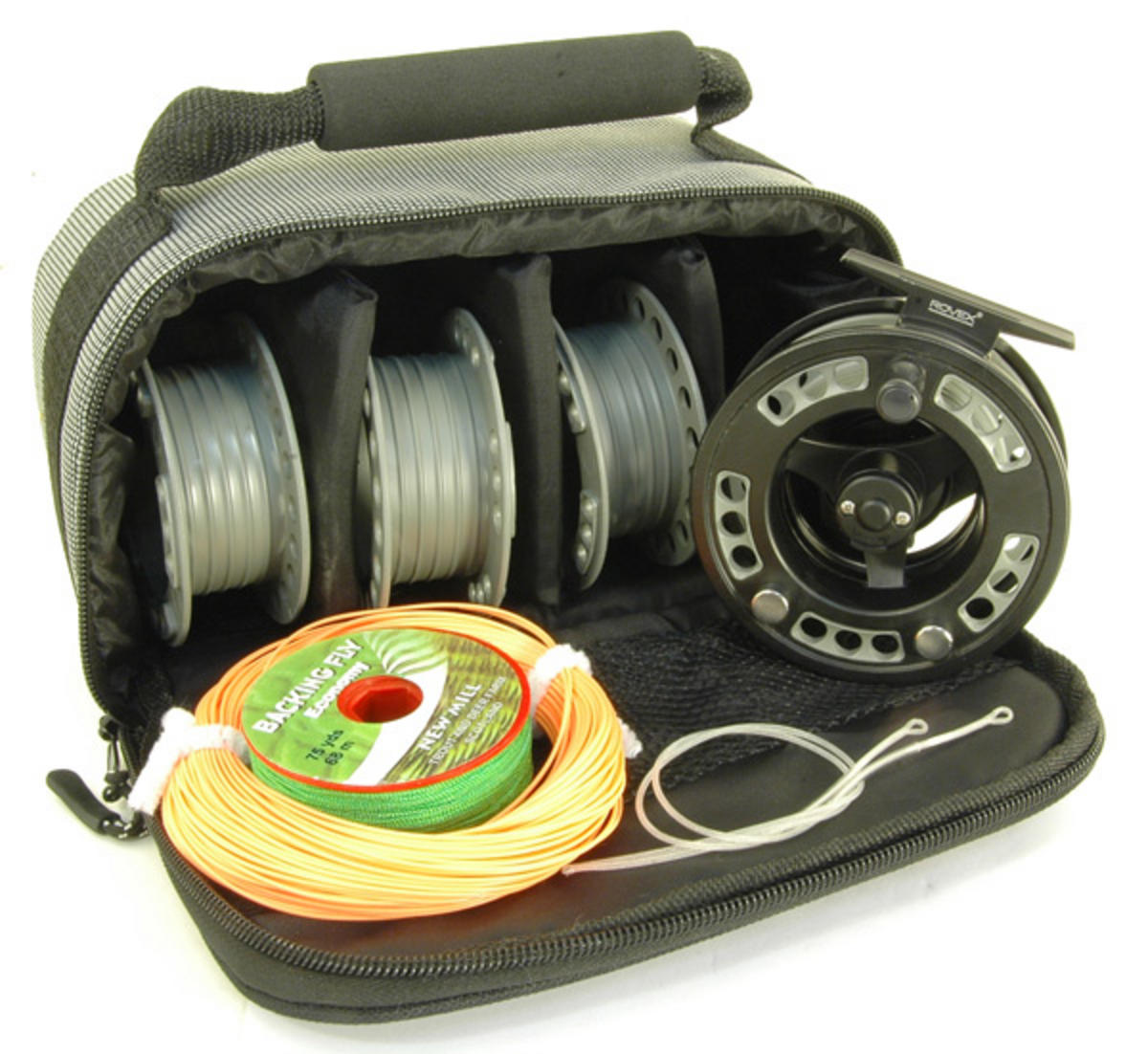 Rovex radion cassette fly reel line backing loops for Fly fishing backing