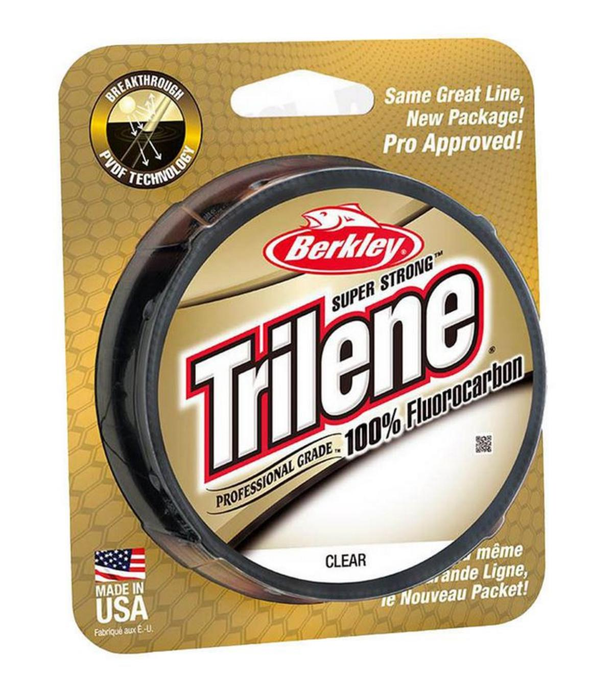 BERKLEY TRILENE FLUOROCARBON CLEAR ALL SIZES & STRAINS