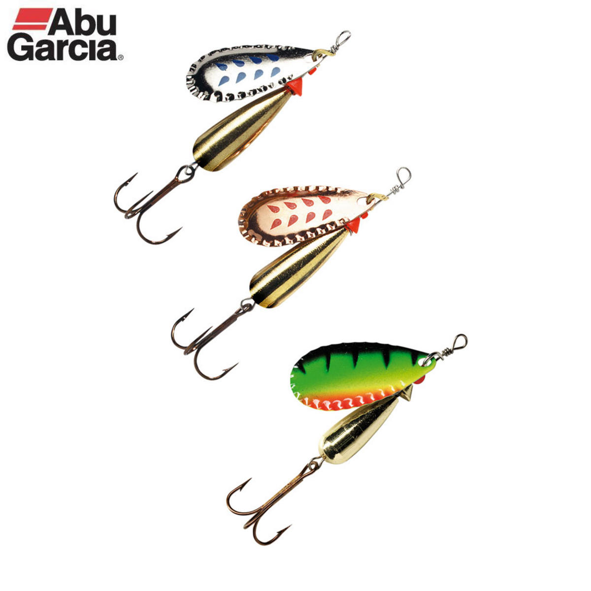 ABU GARCIA CLASSIC DROPPEN SPINNER LURES 8gm 3 PACK 1109916