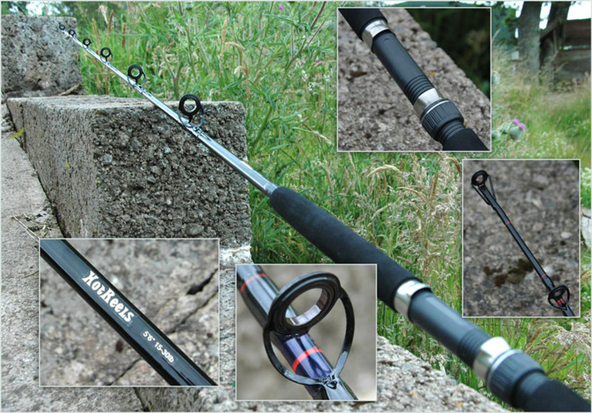 5'6'' CARBON COMPOSITE ONE SECTION 15-30LB BOAT FISHING ROD