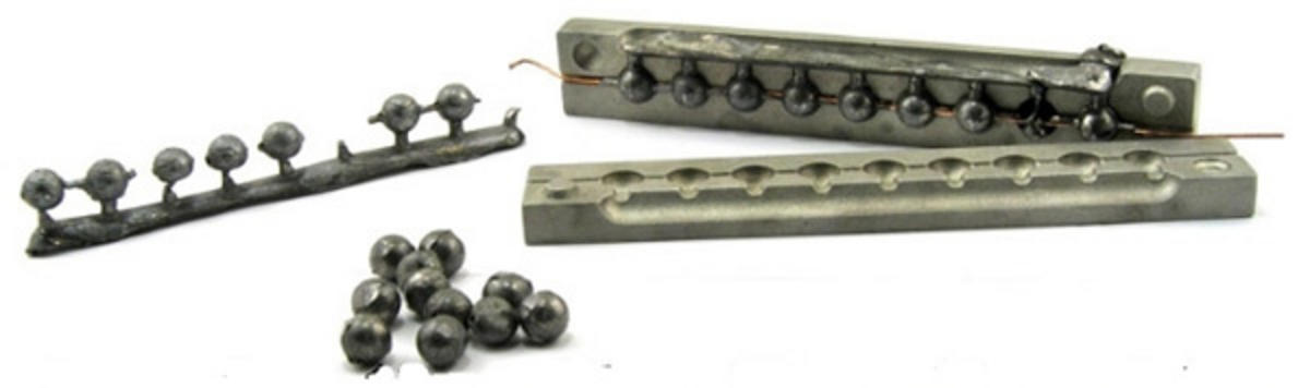 BALL LEAD SINKER MOULD FISHING WEIGHT MOULDS