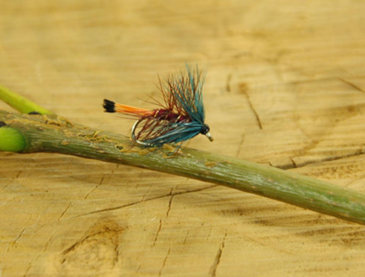 TALON TEN CLARET BUMBLE SIZE 12 TROUT FLIES