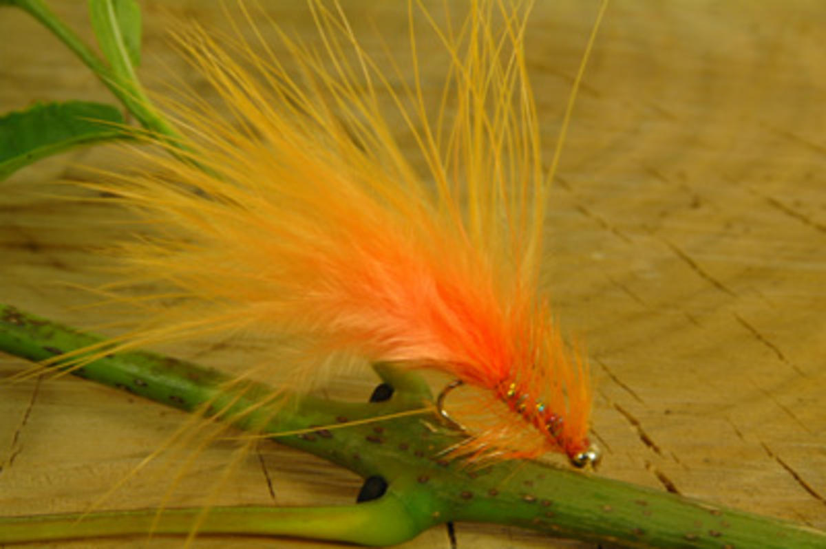 TALON TEN ORANGE DANCER SIZE 10 TROUT FLIES