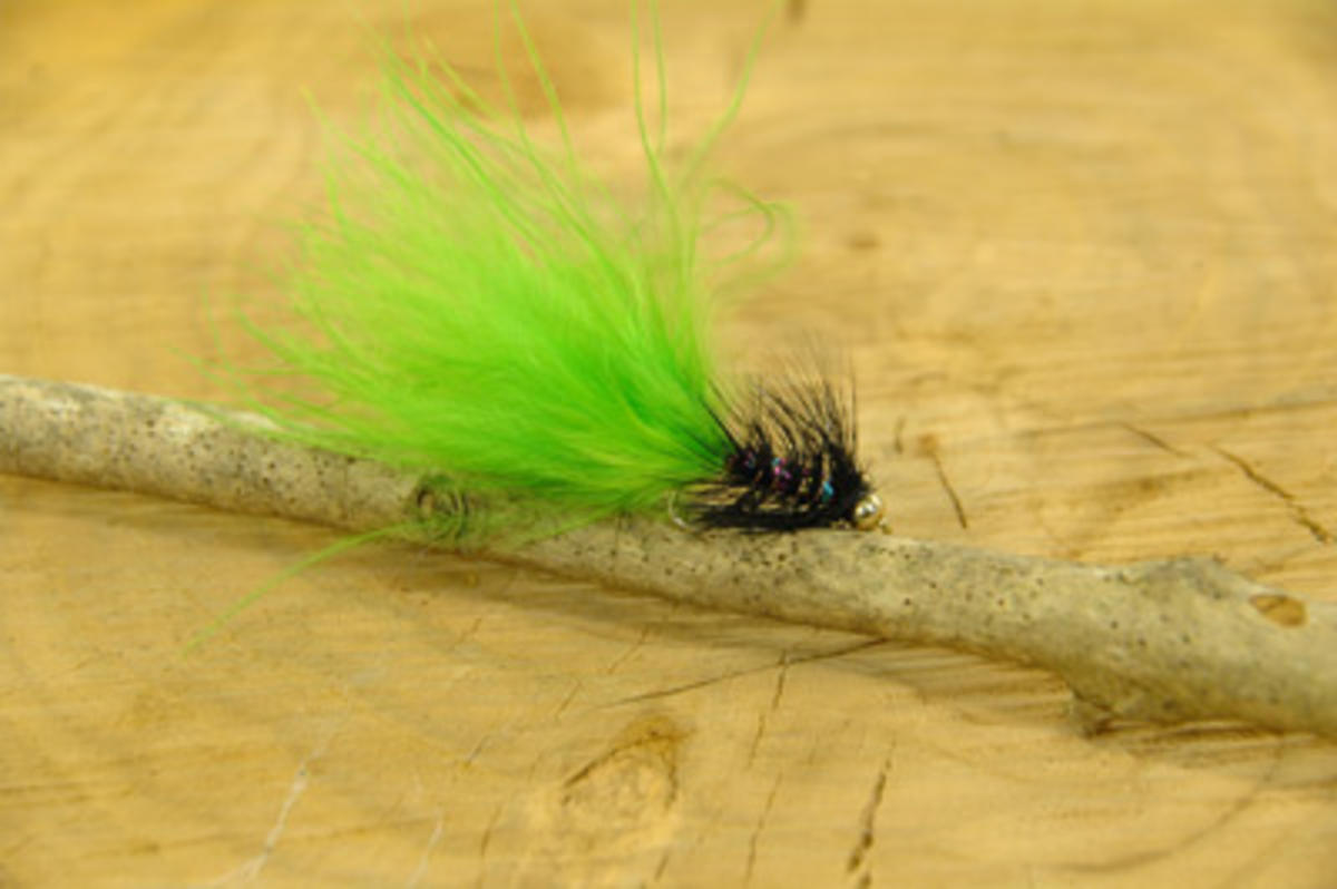 TALON TEN GREEN AND BLACK DANCER SIZE 10 TROUT FLIES