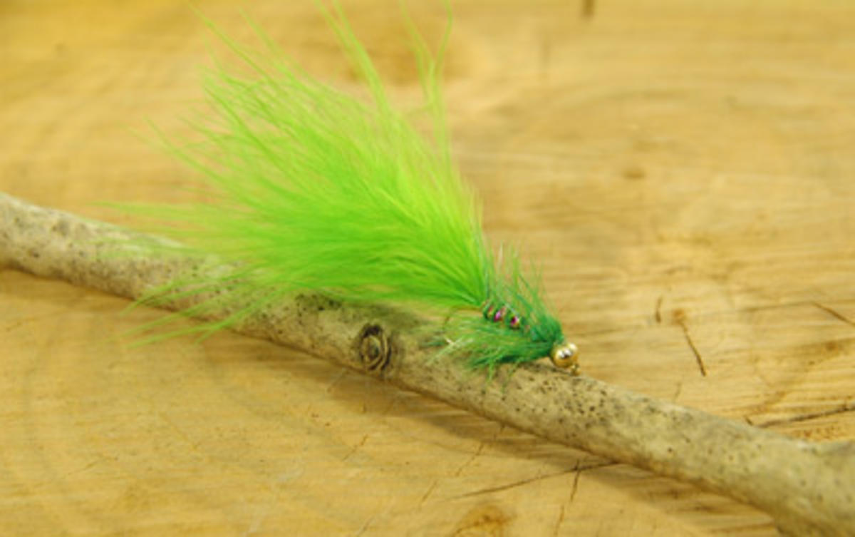 TALON TEN GREEN DANCER SIZE 10 TROUT FLIES