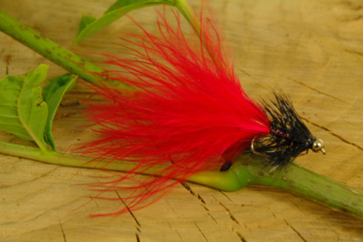 TALON TEN RED AND BLACK DANCER SIZE 10 TROUT FLIES