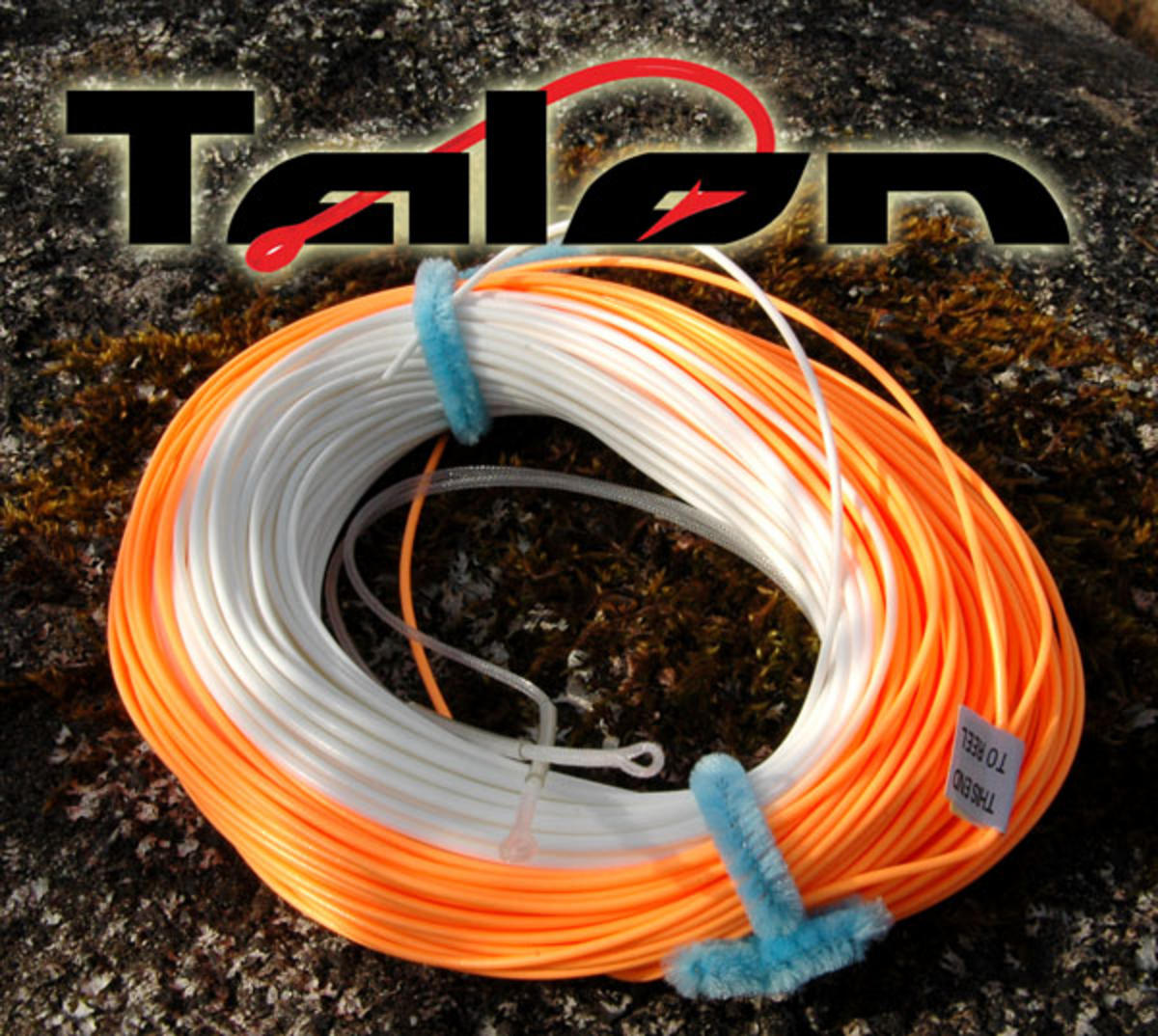 TALON 40YD 10-11 SALMON SPEY FLY LINE WITH 100YDS OF BRAIDED BACKING & 2 LOOPS