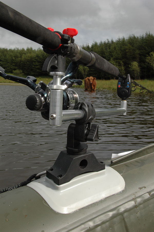 Bison marine system boat kayak rod holder complete with for Fish bite rod holders