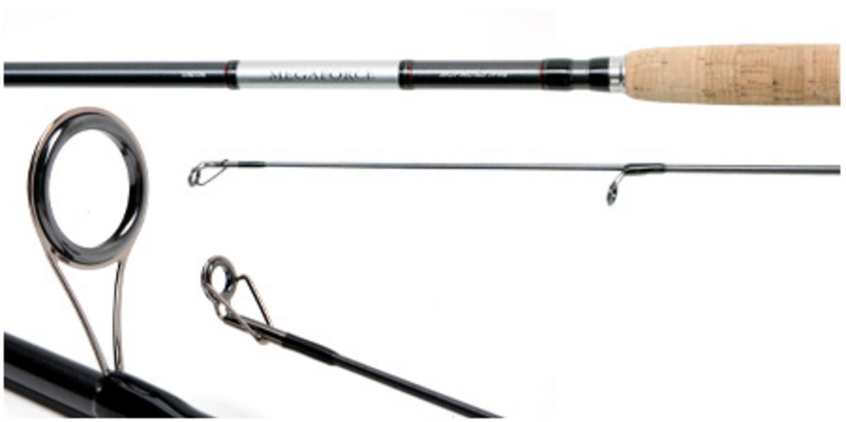 SPECIAL CLEARANCEDAIWA MEGAFORCE SPIN 9' 4PC Model No MGF904MS  SPINNING ROD