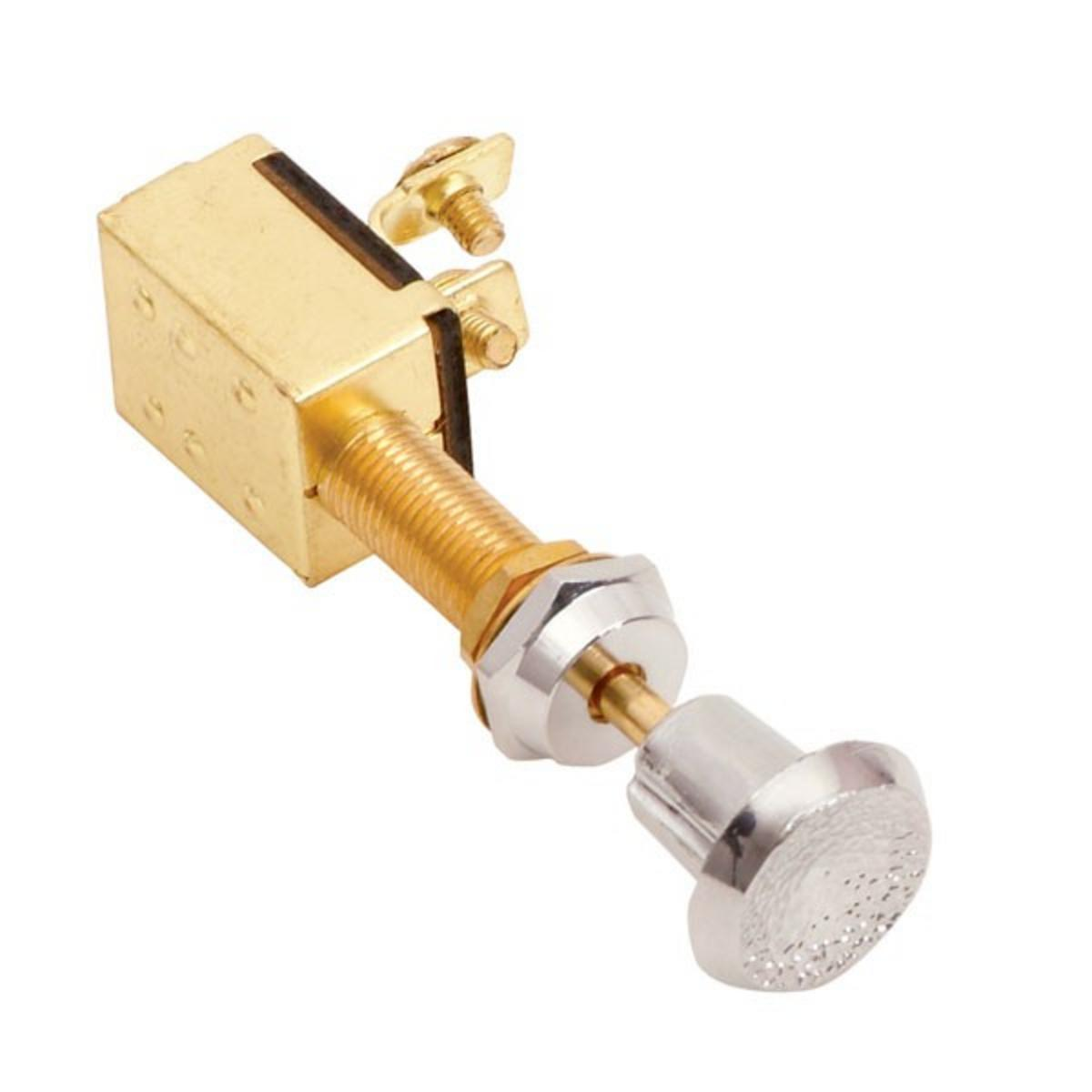 JARVIS WALKER MARINE PUSH PULL SWITCH 3-POSN BRASS