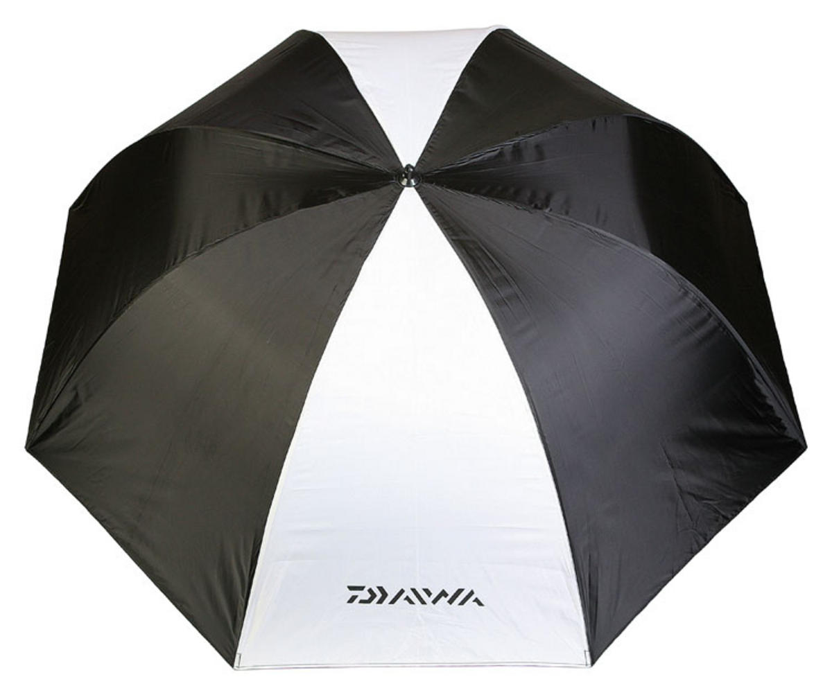"Special Offer Daiwa Vector 125cm/50"" Fishing Brolly/Umbrella Blk/White DVB125-BW"