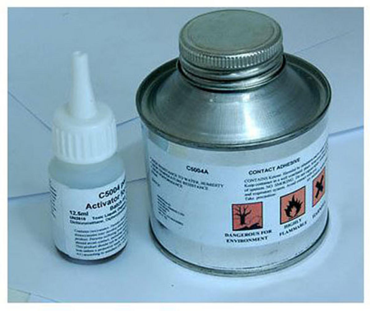 Bison Marine 2 Part Contact Adhesive for Hypalon Ribs and Boats