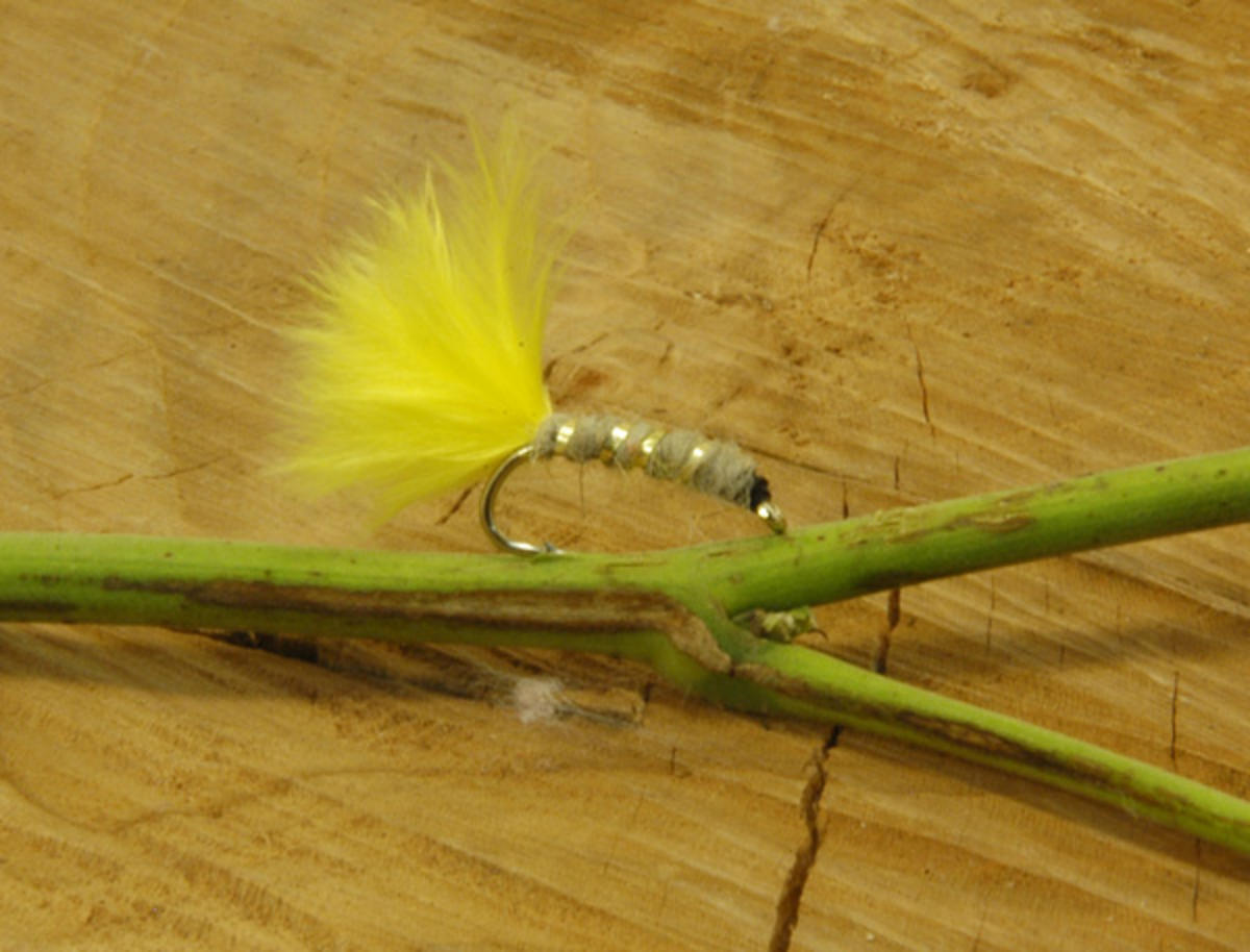 TALON TEN HOT TAIL HARE'S EAR YELLOW SIZE 12 TROUT FLIES