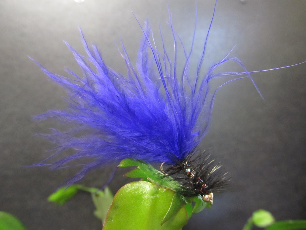 TALON TEN PURPLE AND BLACK DANCER SIZE 10 TROUT FLIES