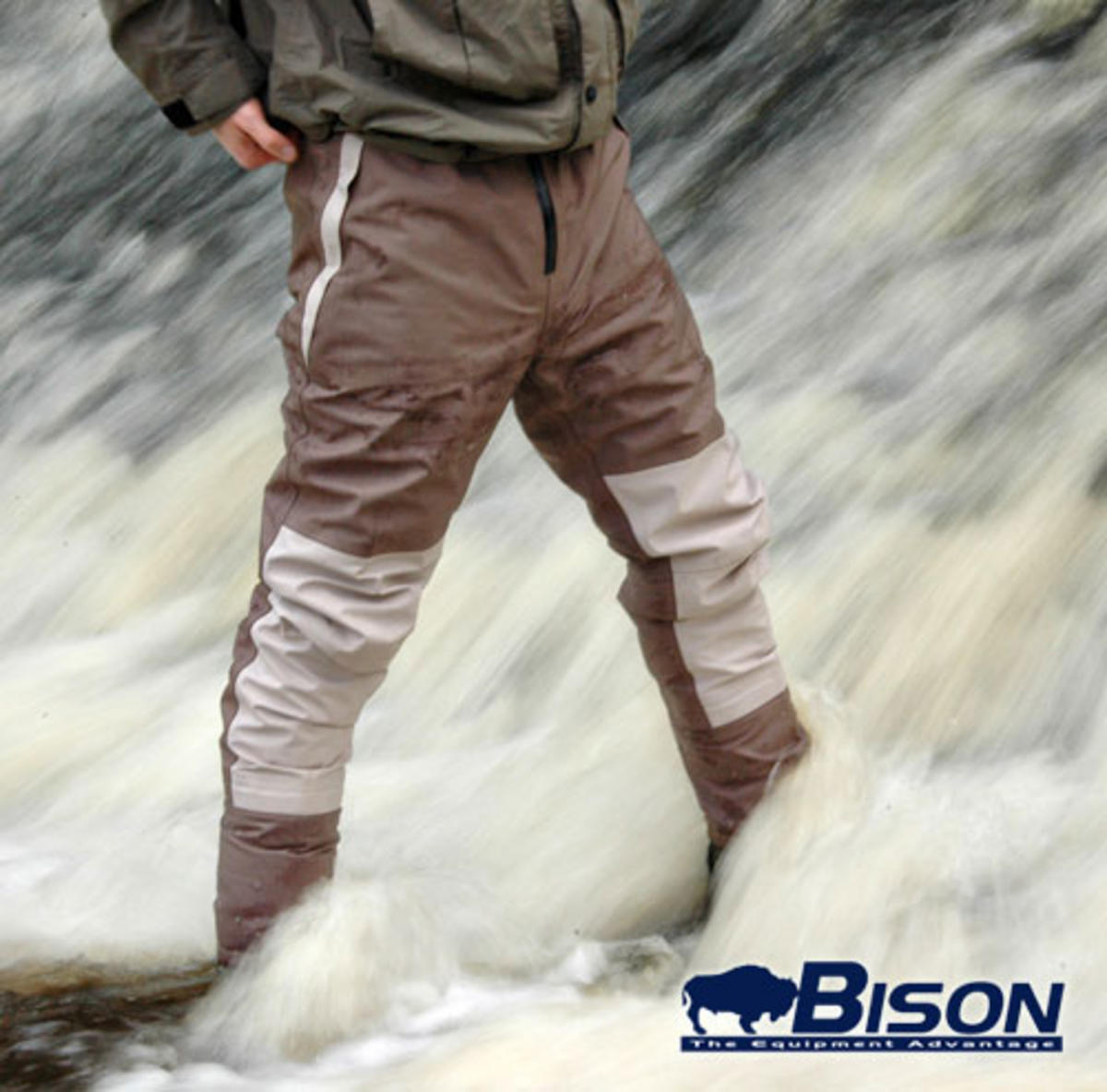 BISON BREATHABLE STOCKING FOOT WAIST WADERS