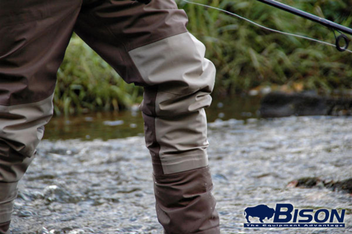Bison Breathable Stocking Foot Waist Waders Breathable
