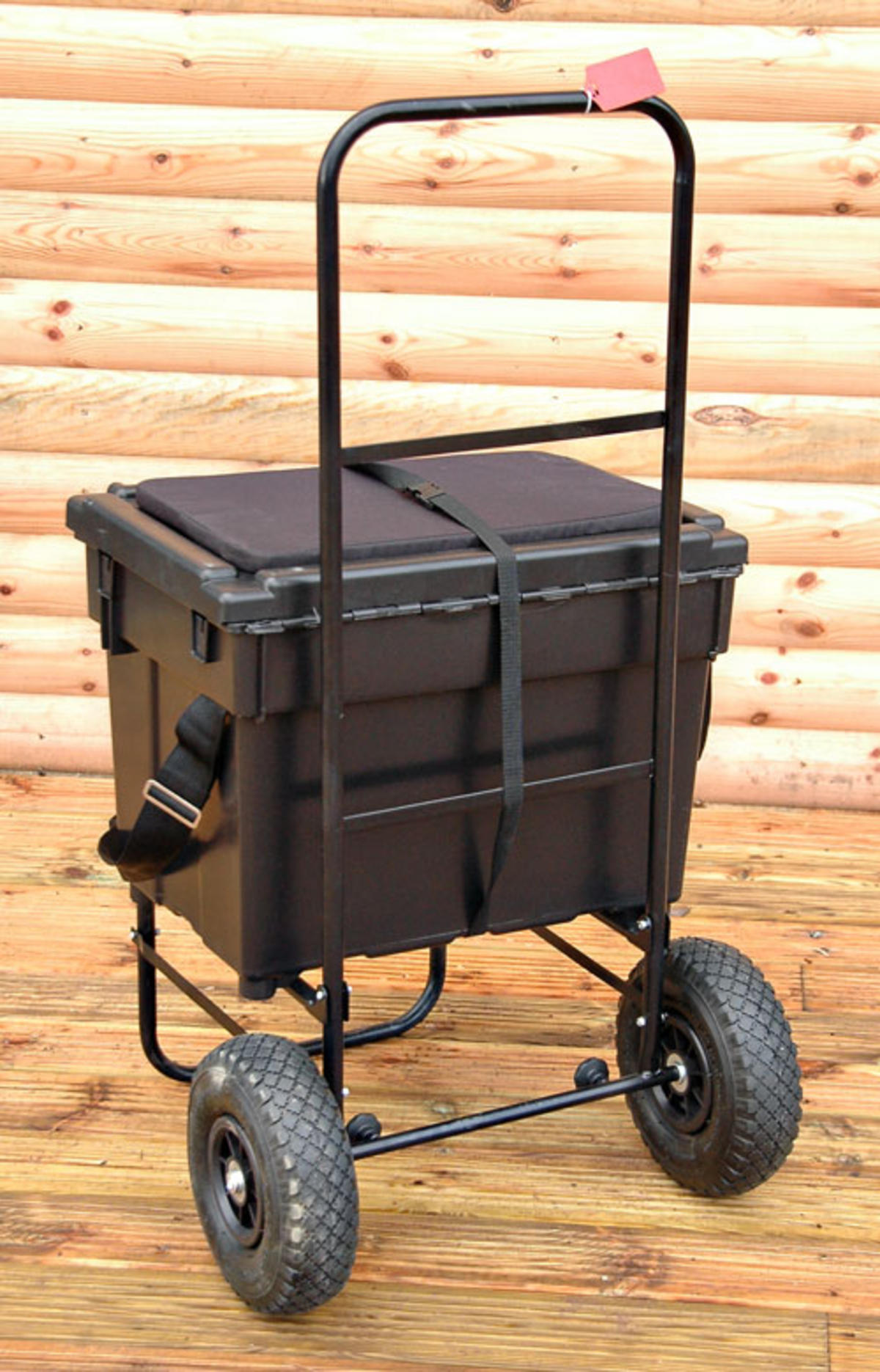 BISON FISHING SEAT BOX TROLLEY AND SEATBOX