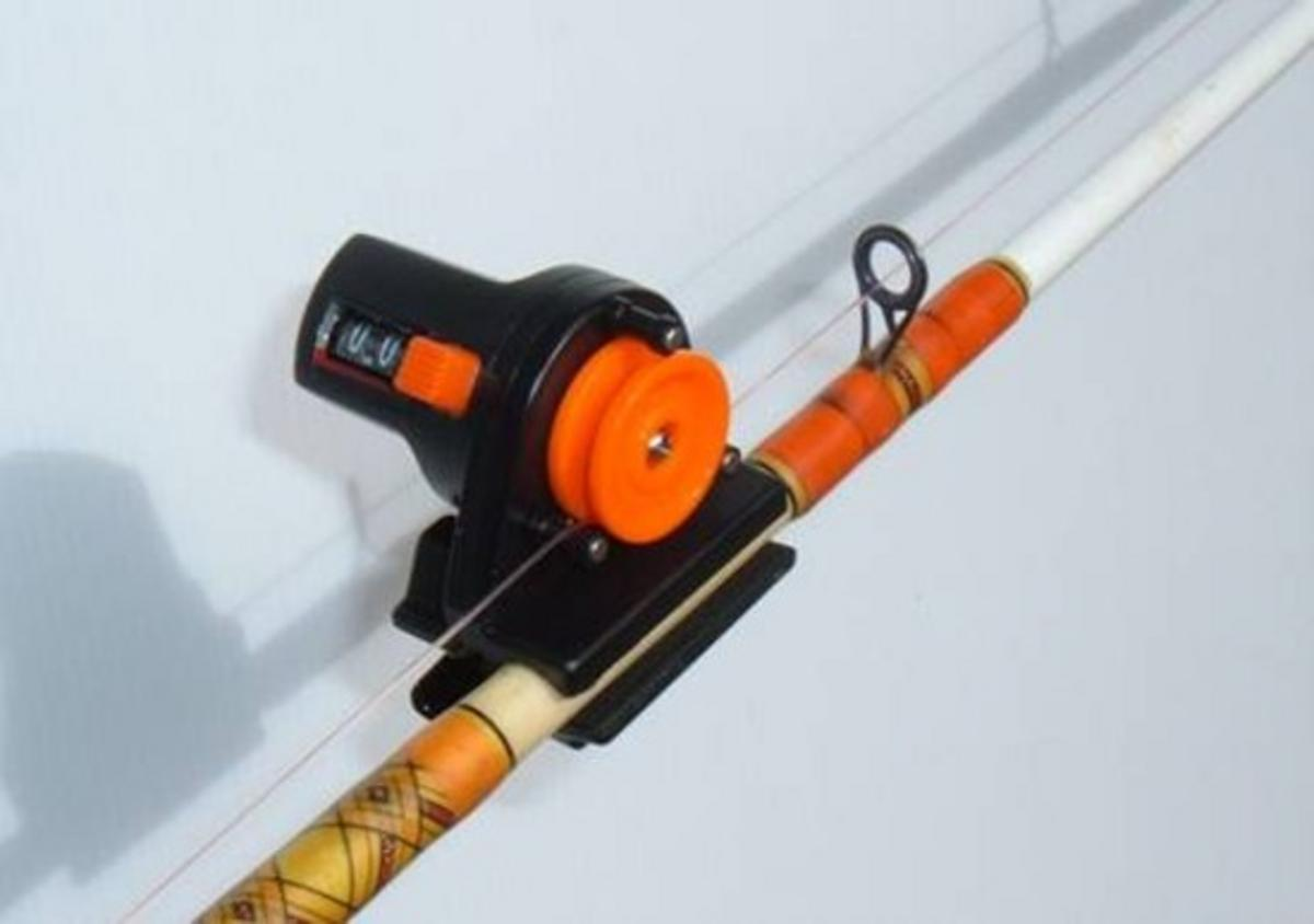 DEPTH FINDER LINE COUNTER FOR FISHING ROD OR DOWNRIGGER