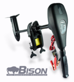 BISON 68'lb ELECTRIC OUTBOARD TROLLING MOTOR FREE SPARE PROPELLER & CHARGER