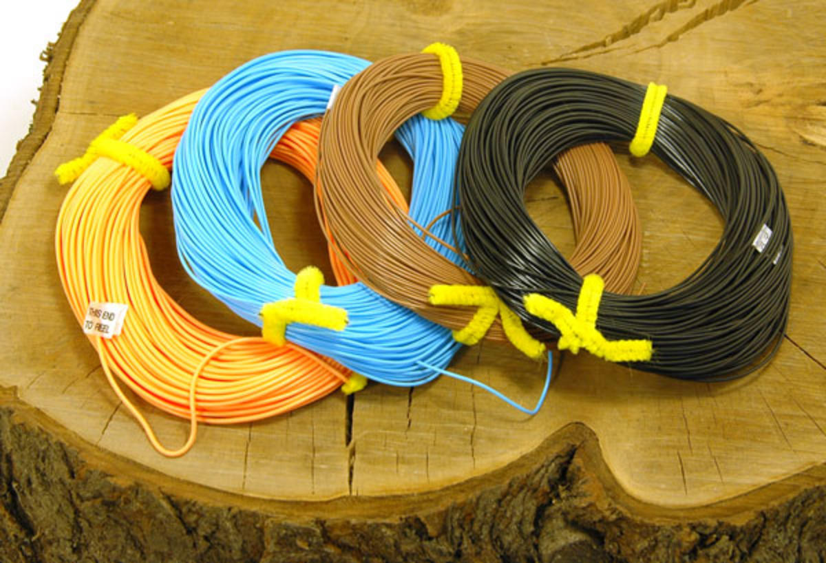 SET OF 4 TALON FLY LINES, FLOATING, NEUTRAL ,INTERMDIATE & SINKING + 8 LOOPS