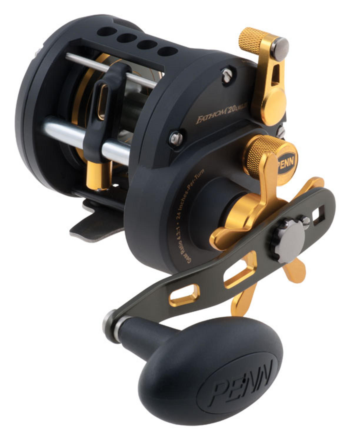 PENN FATHOM 20 LEVEL WIND LEFT HAND MULTIPLIER FISHING REEL FTH20LWLH 1259867